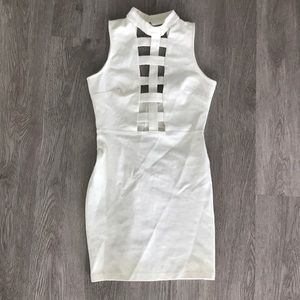White Caged Dress
